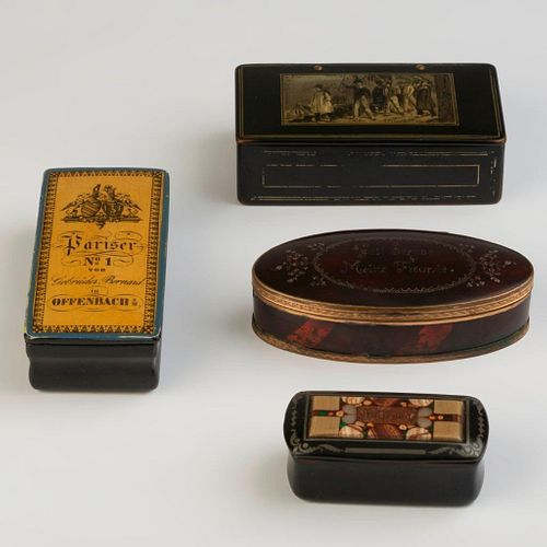 Four Snuff Boxes.