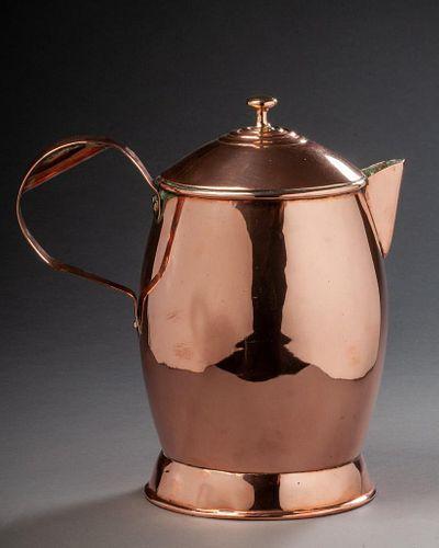 English Copper Ale Jug.