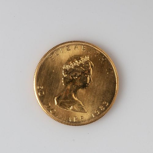 Canadian Fifty Dollar Gold Coin, 1983.
