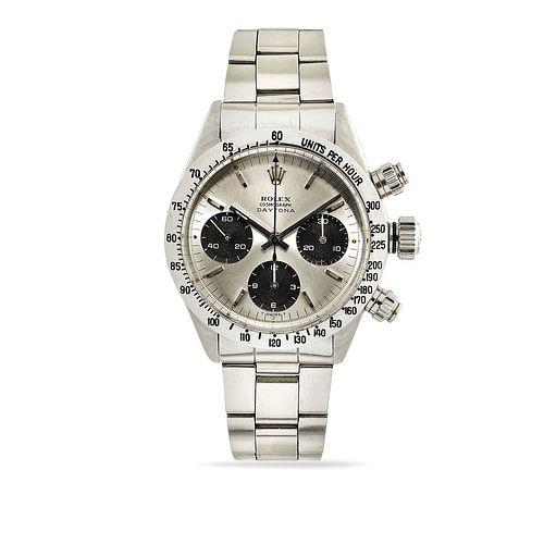 Rolex - A stainless steel wristwatch, Rolex Daytona, ref. 6263, circa 1972, with box