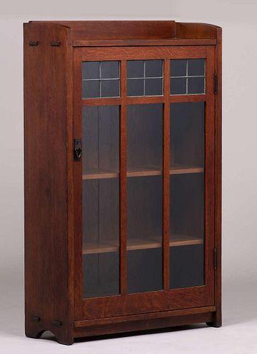 Gustav Stickley One-Door Bookcase c1907