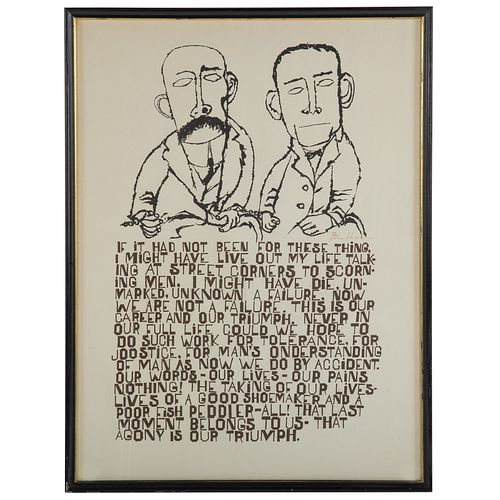 Ben Shahn Passion Of Sacco Sold At Auction On 27th June Bidsquare