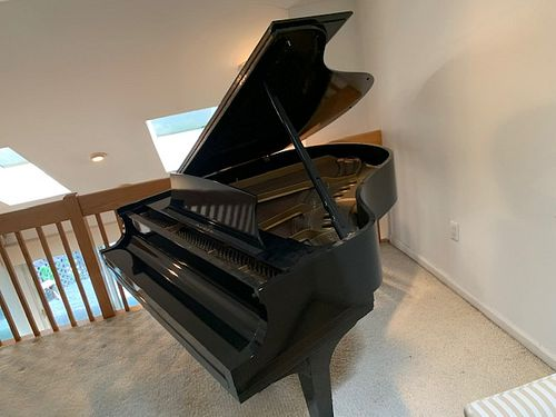 Steinway And Sons Model M Ebonised Piano,