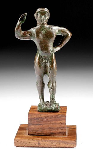 Etruscan Bronze Kouros / Nude Male Youth