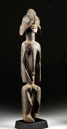 Early 20th C. African Mumuye Wood Ancestral Figure