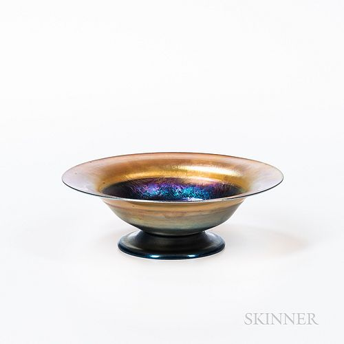 Tiffany-style Footed Bowl