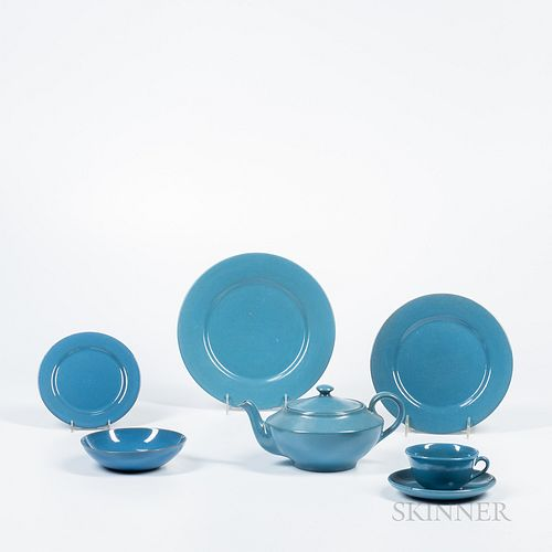 Forty-two Pieces of Paul Revere Pottery Tableware