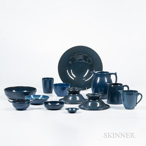 Twenty-nine Pieces of Paul Revere Pottery Tableware