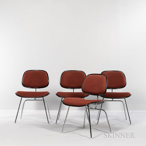 Four Ray (1912-1988) and Charles Eames (1907-1978) for Herman Miller DCM (Dining Chair Metal) Chairs