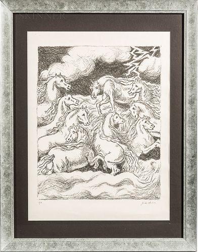 Attributed to Giorgio De Chirico (Italian, 1888-1978)      Cavalli.