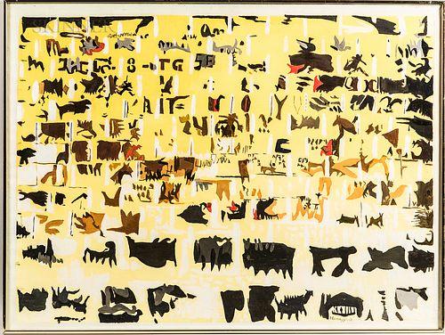 John Hansegger (Swiss/American, 1908-1989)      Cave Painting