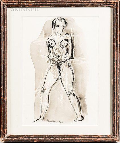 Attributed to Konrad Cramer (German/American, 1888-1963)      Standing Nude.