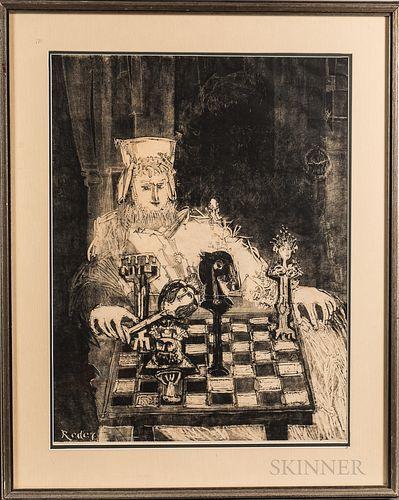 Bernard Reder (American, 1897-1963)      Chess Player