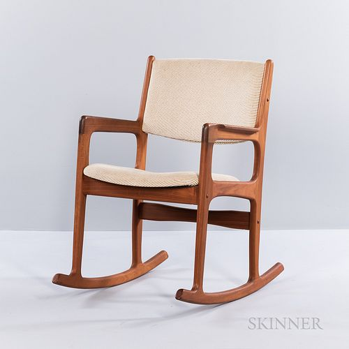 Danish Modern Oak Rocking Chair