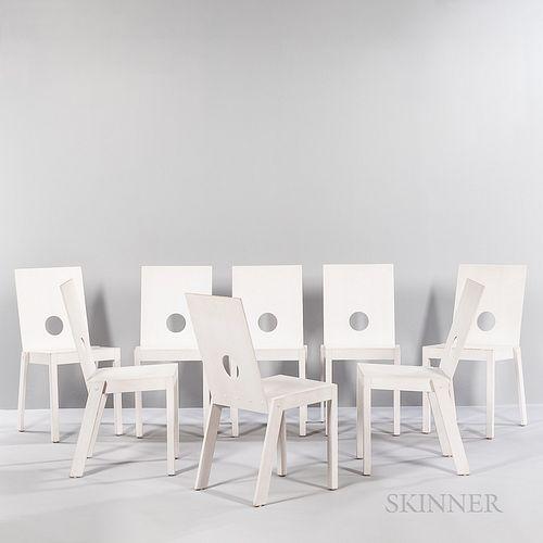 "Eight Åke Axelsson (Swedish, b. 1932) for Galleri Stolen ""Anselm"" Side Chairs"
