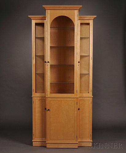 Terry Moore (Welsh/American) Studio Furniture Cabinet and Display Case