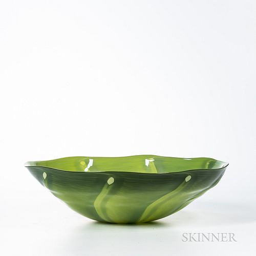 Catherine Benoît (Canadian, b. 1978) Studio Art Glass Bowl