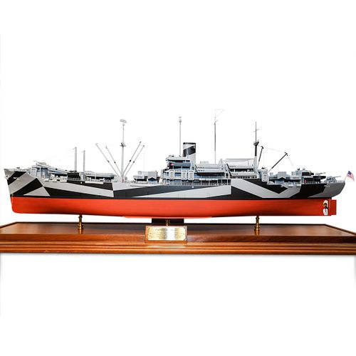 Large Model of the USS Cambria