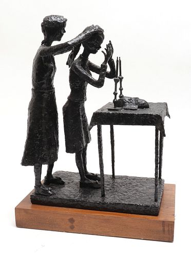 Jacob Sheiniuk Judaica Shabbat Blessing Sculpture