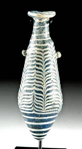 Elegant Helenistic GreekCore-Form Glass Alabastron
