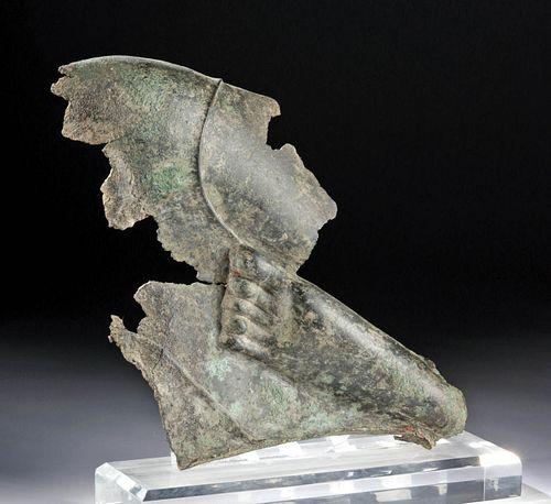 Roman Bronze Relief Fragment