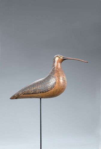 The O'Brien-Nelson Hollow Nantucket Curlew Decoy, Charles F. Coffin (1835-1919)