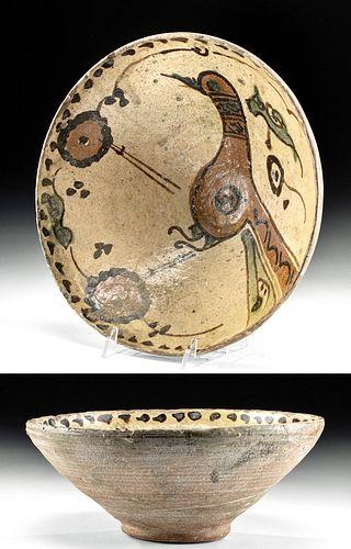 Published Iranian Ziyarid Pottery Bowl, ex-Christie's