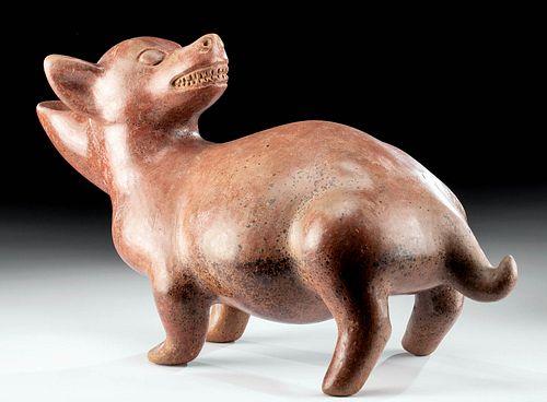 Colima Redware Dog Vessel