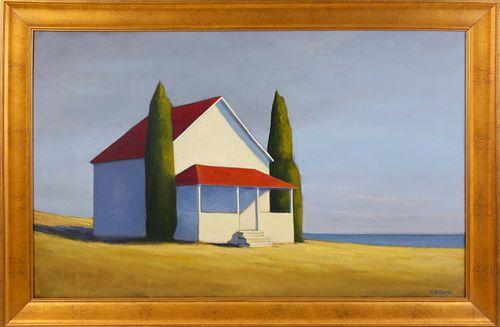 "Joan Albaugh Oil on Board ""The Quiet Season"""