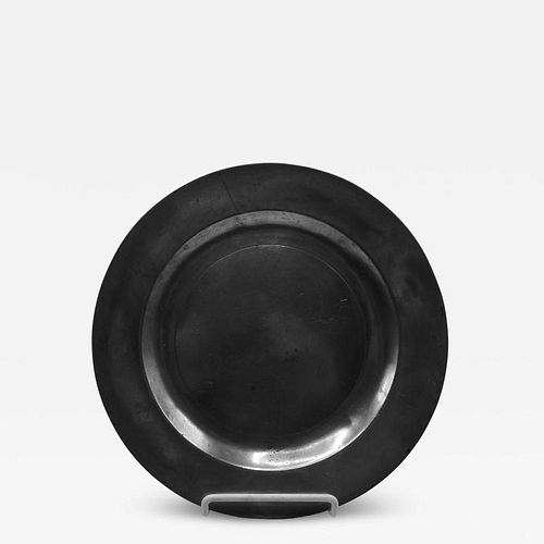 """MARKED PEWTER ENGLISH PLATE 9 _"""""""