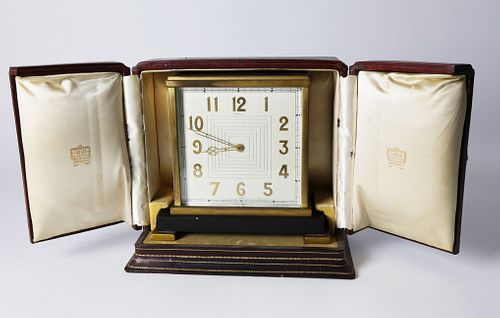 Cartier French Bronze Table Clock
