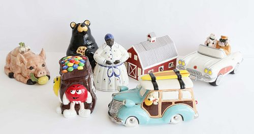 Collection of Seven Ceramic Cookie Jars