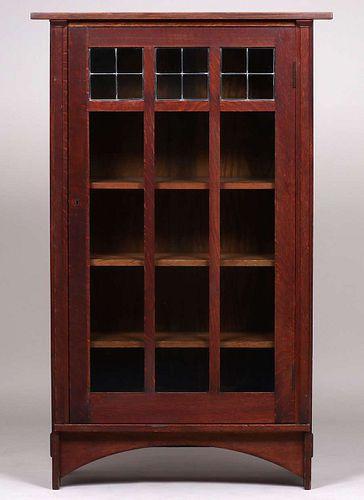Gustav Stickley - Harvey Ellis One-Door Bookcase c1904