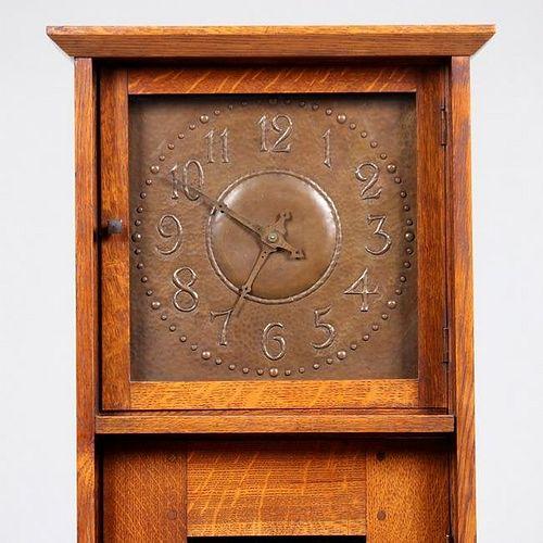 L&JG Stickley Grandfather Clock c1905-1907