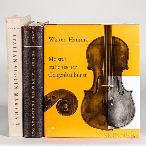 Three Books on Italian Violins
