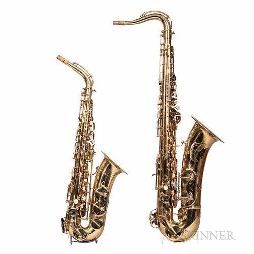 Alto and Tenor Saxophones, Vito, c. 1965