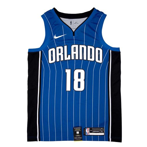 NBA Orlando Magic. Jersey firmado por los jugadores. Mexico City Games 2018.  Con certificado.