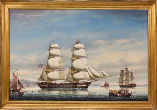 "Salvatore Colacicco Oil ""Portrait of the American Ship Sooloo"""