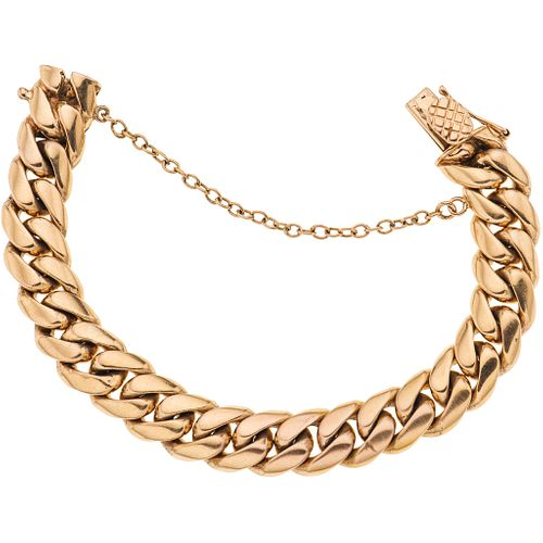 """Bracelet in 18k yellow gold. Weight: 93.9 g. Length: 6.8"""""""