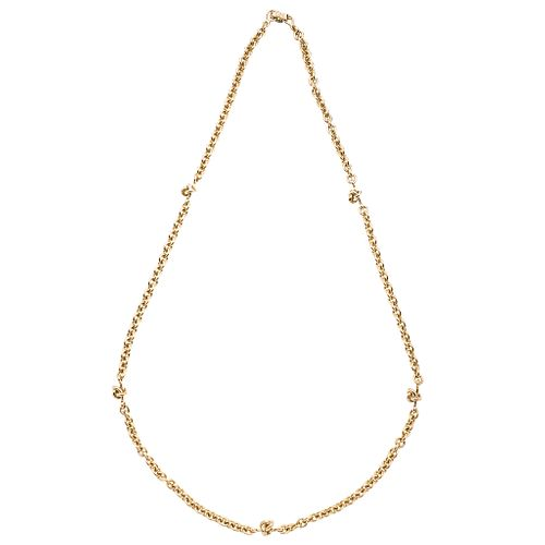"""Necklace in 18k yellow gold. TANE. Weight: 91.1 g. Length: 27.5"""""""