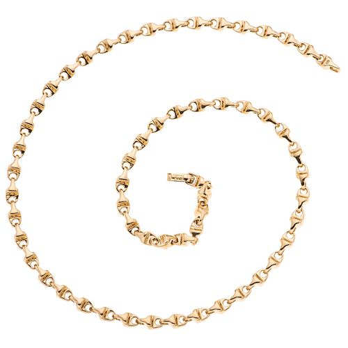 "Choker in 18k yellow gold. TANE. Weight: 59.4 g. Length: 18.5"""