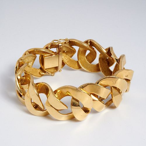 Heavy 18k yellow gold link bracelet
