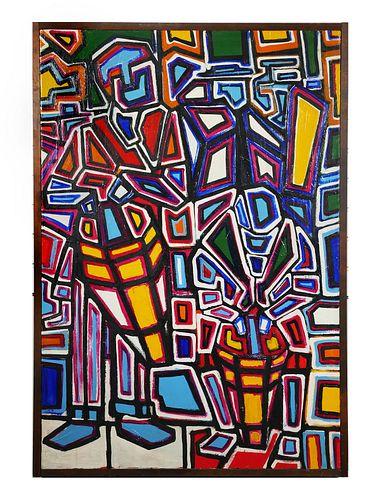 NICHOLAS DAVIS, Oil on Canvas, 1967