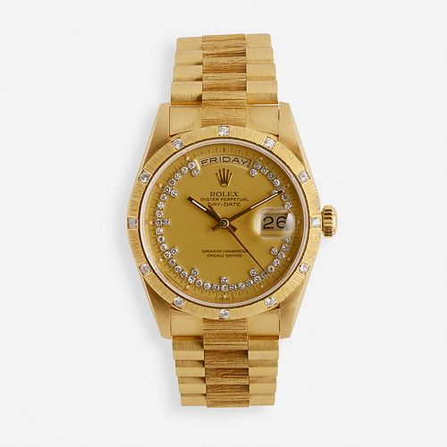 Rolex, Day-Date diamond and gold wristwatch