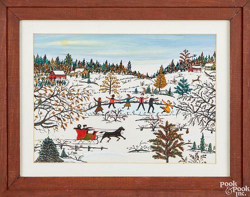 Hattie Klapp Brunner winter landscape