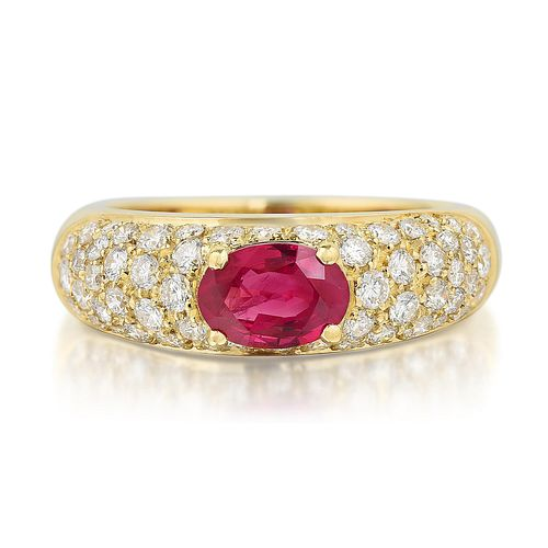 Giovane Ruby and Diamond Ring