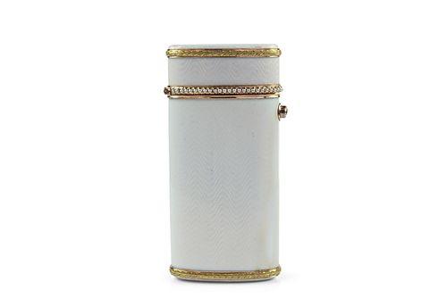 Russian Gold Enamel Pearl Cigarette box, Faberge
