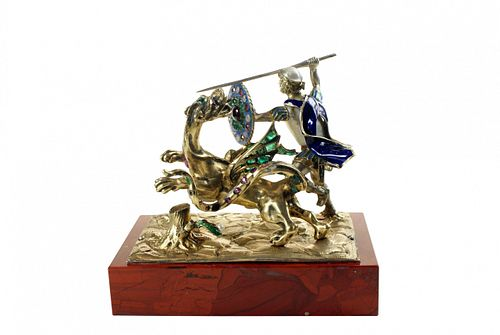 Gem-Set Figure of St George and the Dragon