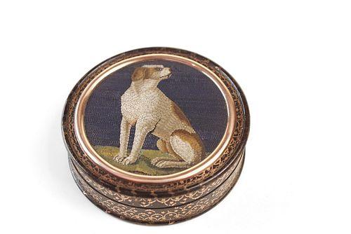 A Micro Mosaic and Piqué Snuff Box