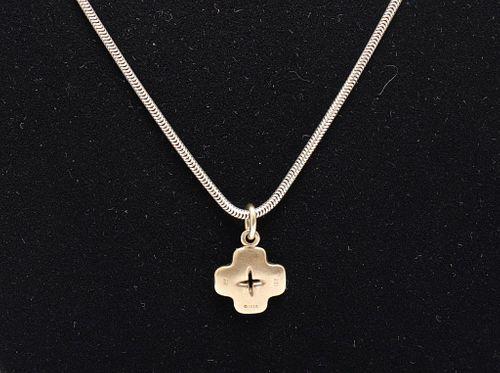 Pedro Boregaard 18K White Gold Pendant Necklace